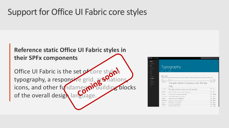 Slide: Support for Office UI Fabric core styles