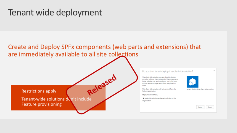 Slide: Tenant wide deployment